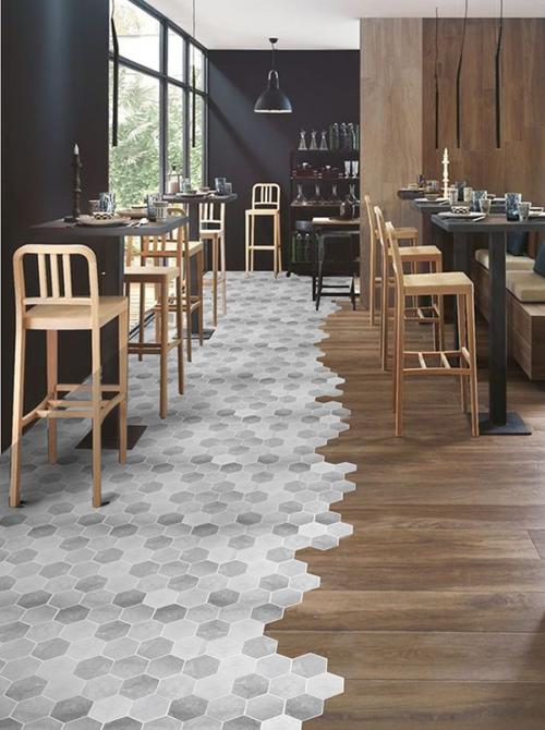 Concreto Carbone Floor & Wall Mosaics