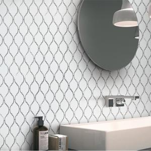 Morocco Bianco Porcelain Floor & Wall Mosaics