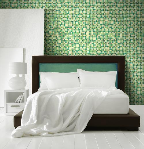 Emerald Glass Wall Mosaics
