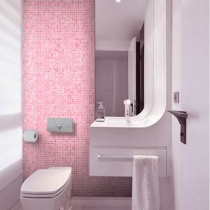 Rosey Glass Wall Mosaics