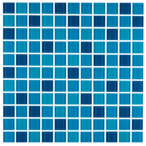 Linosa Aqua Glass Wall Mosaics