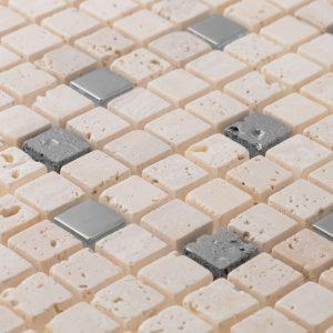 Kristel Crem Mixed Material Mosaics